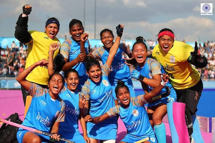 India U-18 mens and womens Hockey team bag silver at Youth Olympics