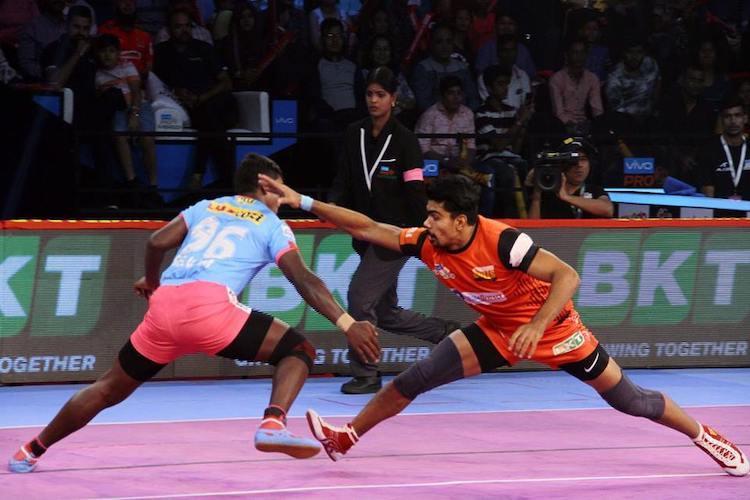 PKL Pawan Sehrawat guides Bengaluru to victory vs Jaipur