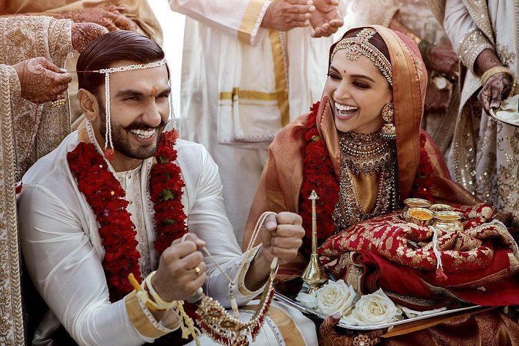 The wait is over Deepika Ranveer share their wedding photos
