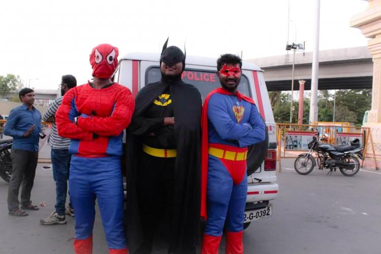 When Batman Superman and Spiderman came to educate Chennai folks on traffic rules