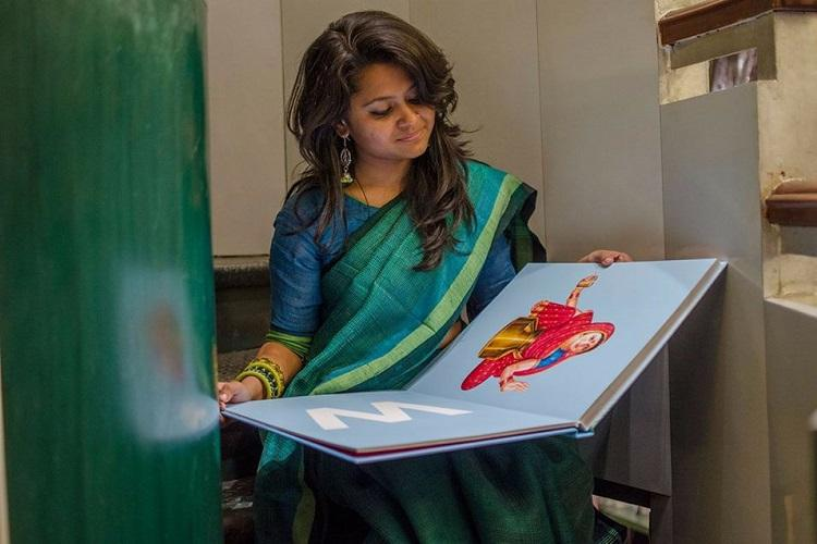 With billboard-style illustrations ABC Desi alphabet book has a distinctly Indian flavour