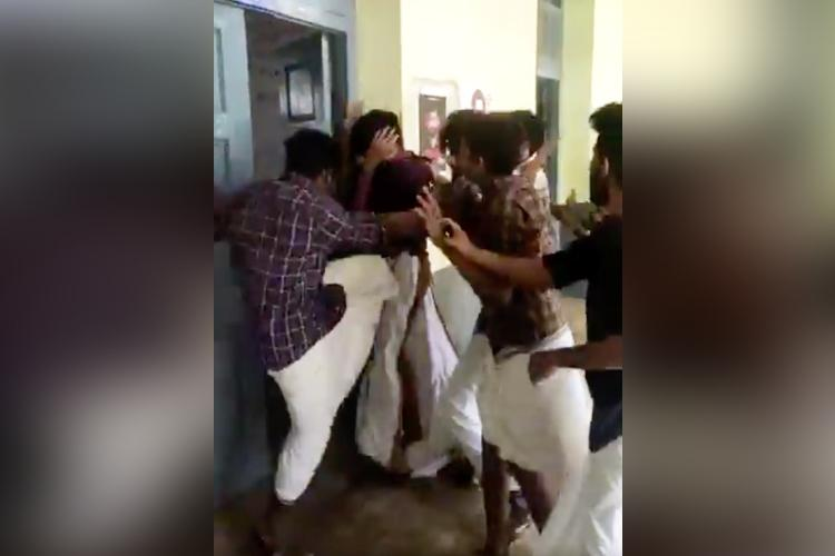 Clashes in Kerala Varma college ABVP member assaulted by SFI over seminar on CAA