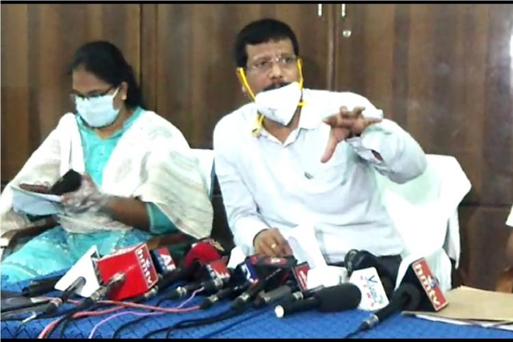 A press meet by officials of the ACB in Andhra