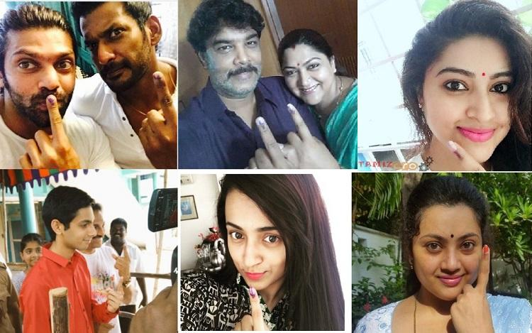 In pictures Kollywood celebs cast their ballot and urge others to vote