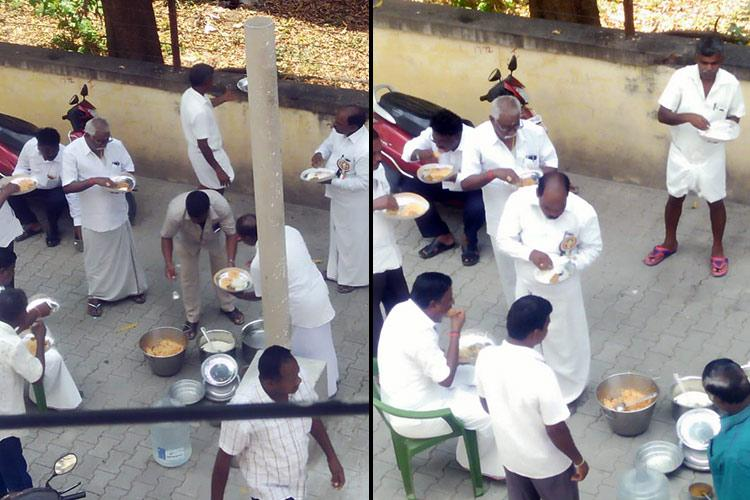 Hunger strike with lunch break Did AIADMK cadre eat biriyani or tomato rice