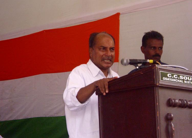 Kerala land of religious bigots says AK Antony