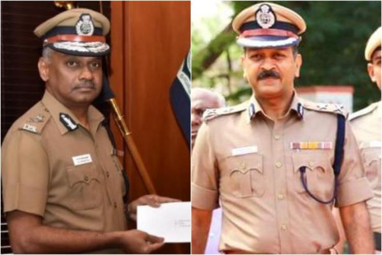 IPS officers AK Viswanathan and Mahesh Kumar Aggarwal collage