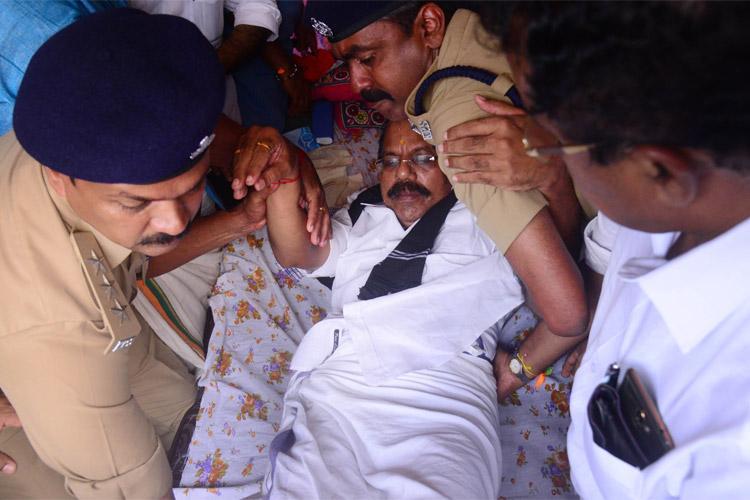 Sabarimala row BJPs AN Radhakrishnan shifted to hospital on 8th day of hunger strike