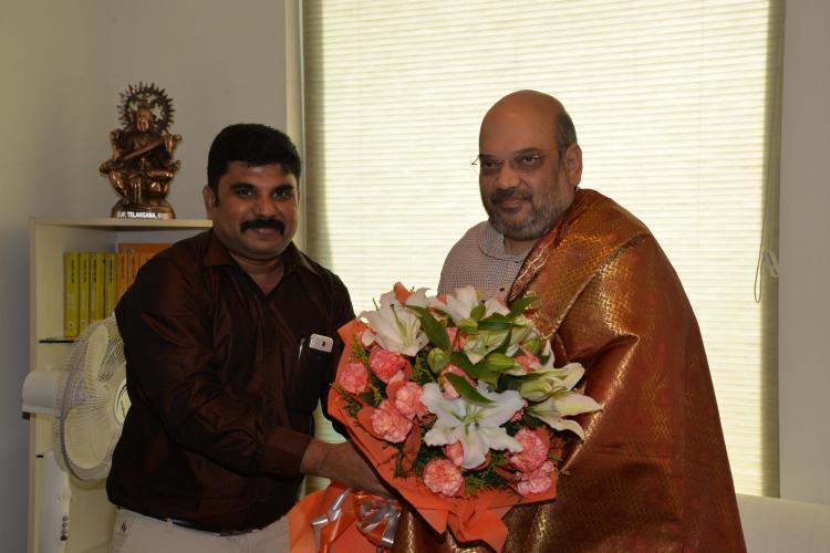 Late former President Abdul Kalams grand nephew joins BJP