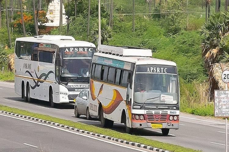 Two riders killed 6 passengers injured as APSRTC bus rams two-wheeler in Andhra