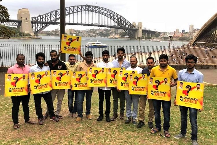 NRIs from AP hold protests in cities across the world demand special status to state