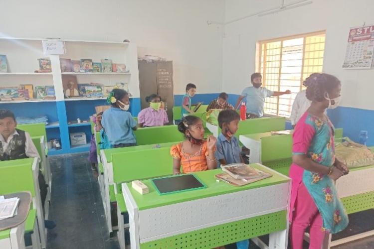 A classroom in a school in Krishna district of Andhra Pradesh