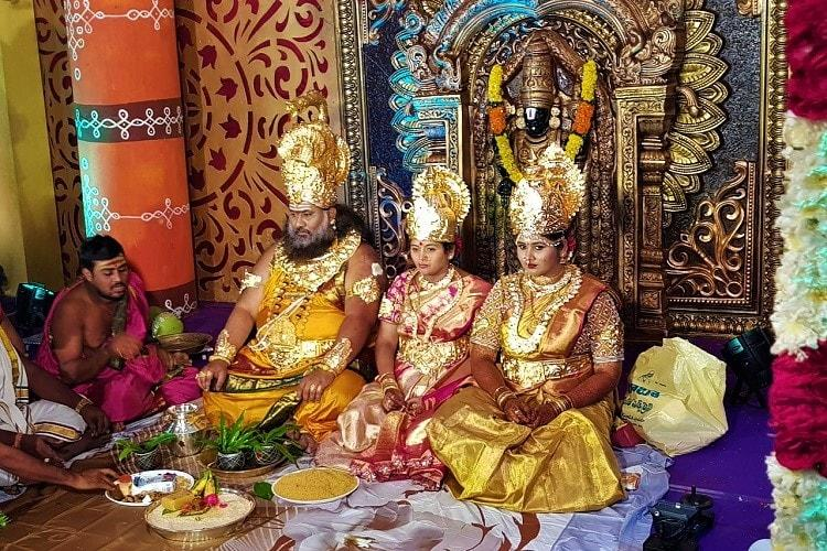 Why pray to gods when you can be them: \'Swami\' and family dress up ...
