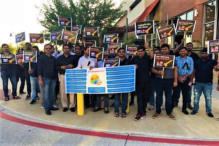 Telugu film industry must take a stand on Andhra special status NRIs protest in US