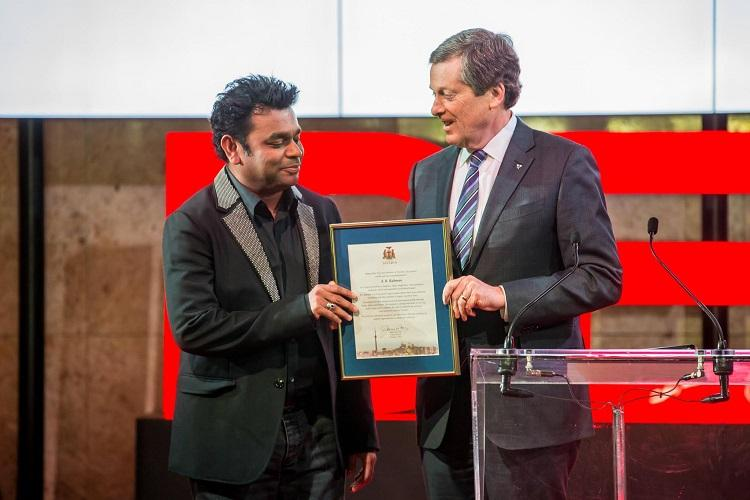 Thank you but TN is home AR Rahman in response to Canadian mayors invite