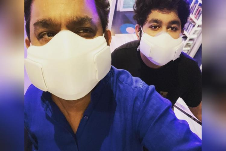 AR Rahman on the left and his son Ameen on the right