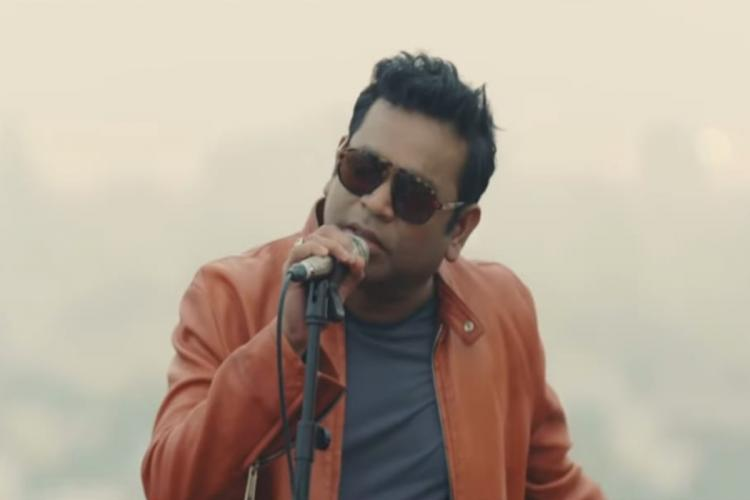 AR Rahman is seen singing in the video of Chennai rooftop jam