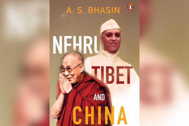Book cover of Nehru Tibet and China showing Dalai Lama and Nehru