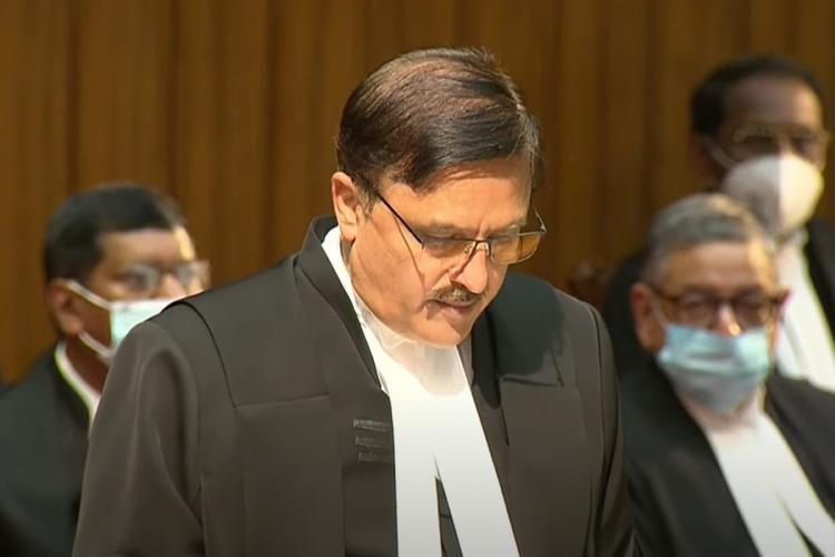 Justice Abay Oka taking oath as Supreme Court judge