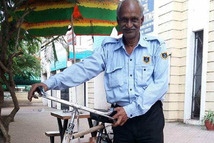 Watch ATM guard is all smiles after good samaritans replaced his stolen bicycle with a new one