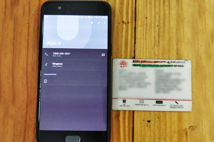 People find UIDAI number auto-stored on phone authority shirks responsibility