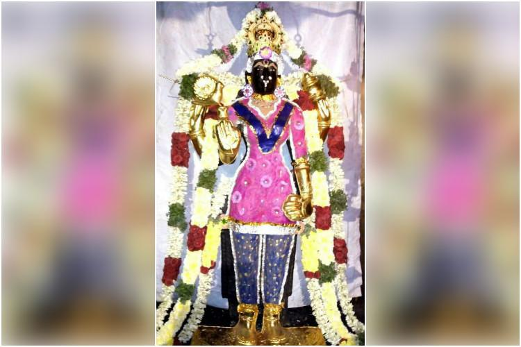 Dress code for a goddess TN priest sacked for dressing idol in salwar-kameez
