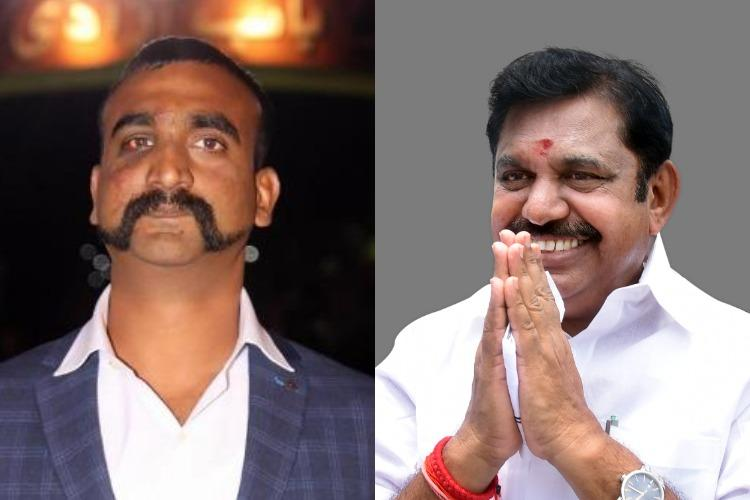 Tamil Nadu Chief Minister recommends Param Vir Chakra for Wing Commander Abhinandan