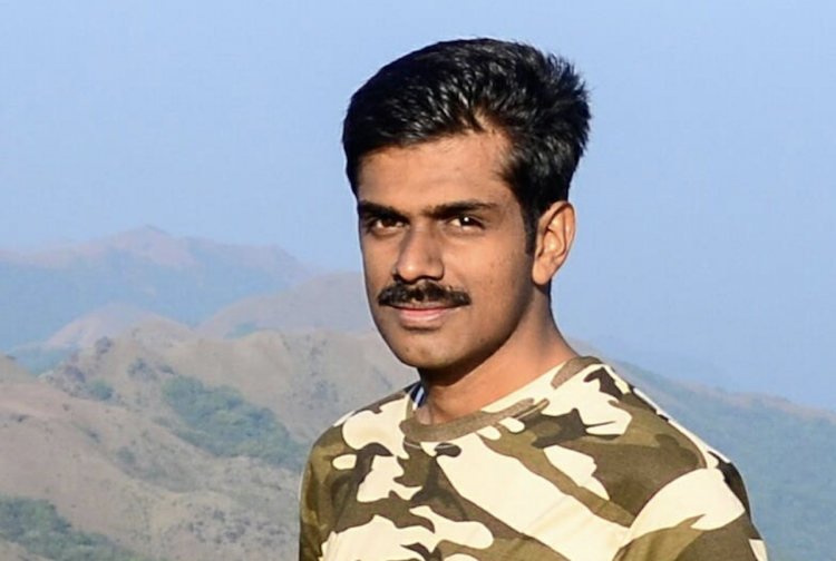 Visual of IAS officer Abhiram Sankar