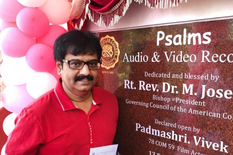 Actor Vivek at an inauguration event