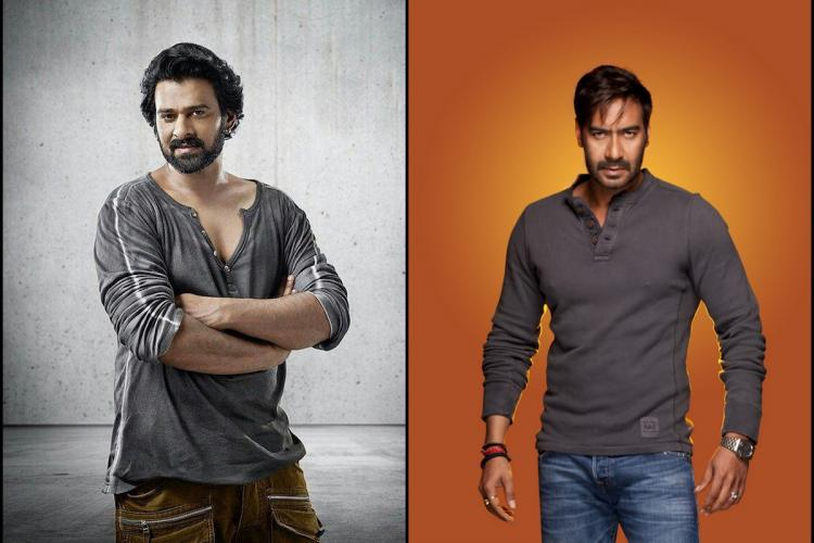 Collage of Prabhas and Ajay Devgn