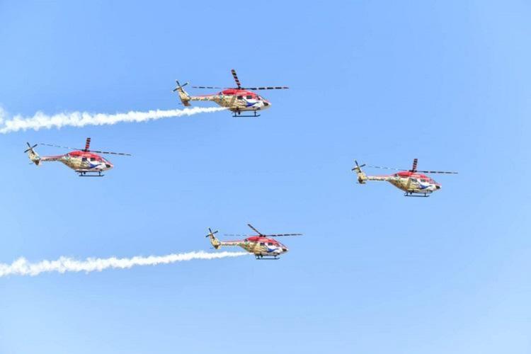 An air drill during aero india 2019