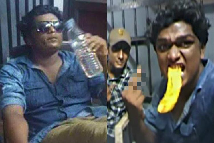 Detained for abusing cop Kerala youth takes selfies records viral video in custody