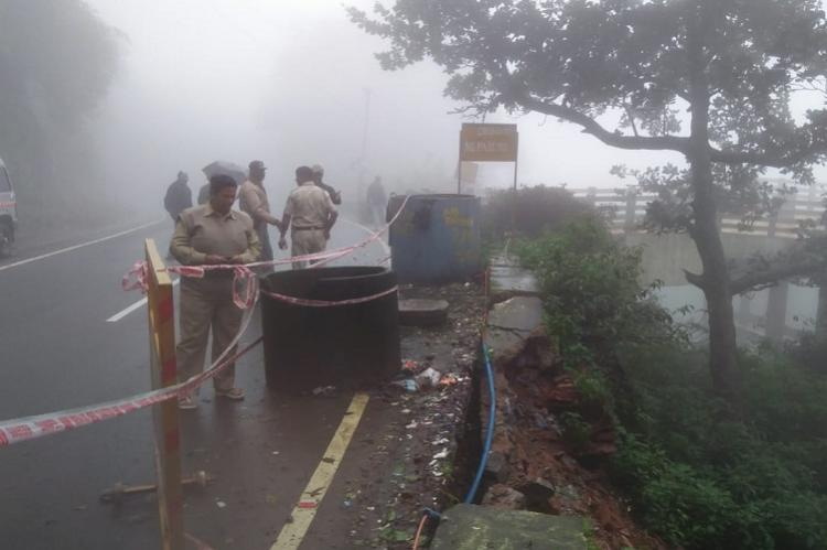 Another landslide in Agumbe Ghat due to heavy rains traffic disrupted again