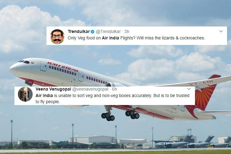 Air India stops non veg meals on domestic economy class earns mixed response on Twitter