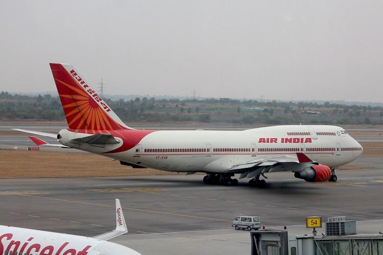 Air India plane on tarmac
