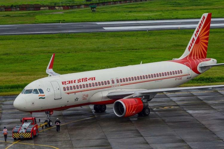 An Air India plane on the tarmac