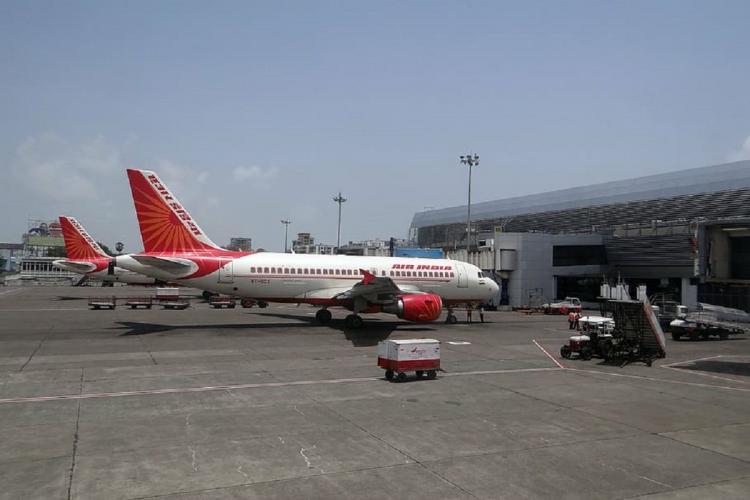 An Air India parked at the Mumbai aiport