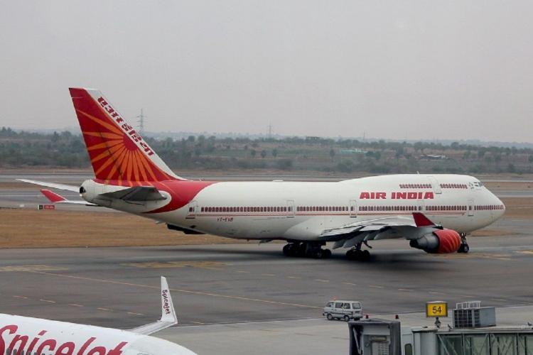 Air India flight about to take off