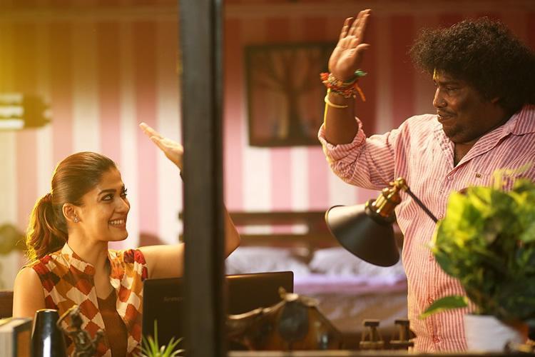 New Airaa poster features Nayanthara and Yogi Babu having a fun moment