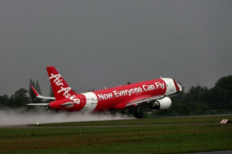 AirAsia flight taking off