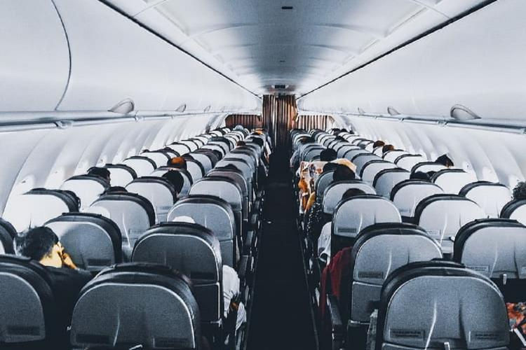 A representative image of inside an airplane