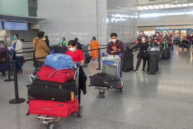 Passengers waiting in the airport