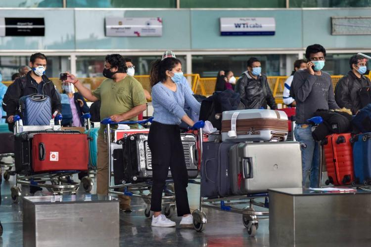Indian nationals arriving at Bengaluru airport amid coronavirus pandemic