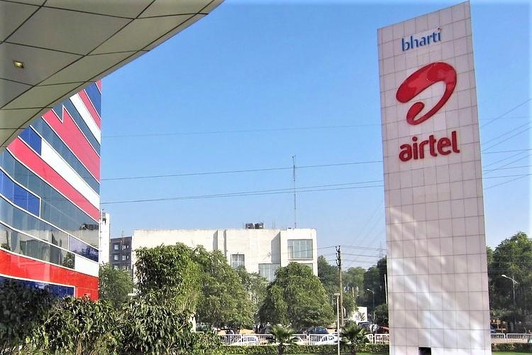 Airtel logo on tower