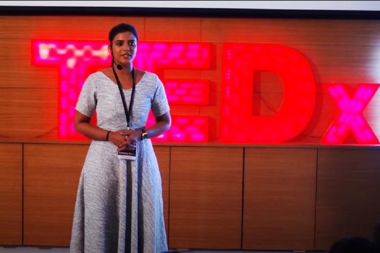 Aishwarya Rajesh speaks about her struggle in film industry in TedX Talk at IIM Trichy