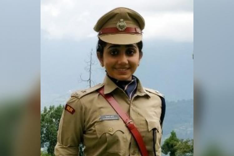 DCP Aishwarya Dongre in her uniform