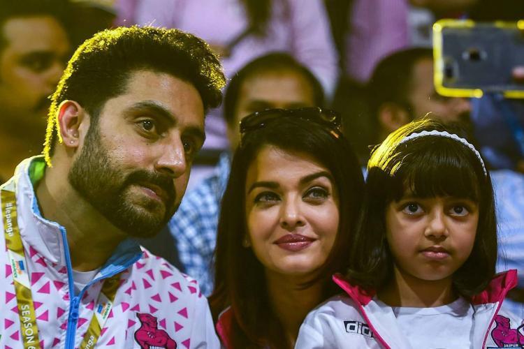 Abhishek Bachchan, Aishwarya Rai and daughter Aaradhya