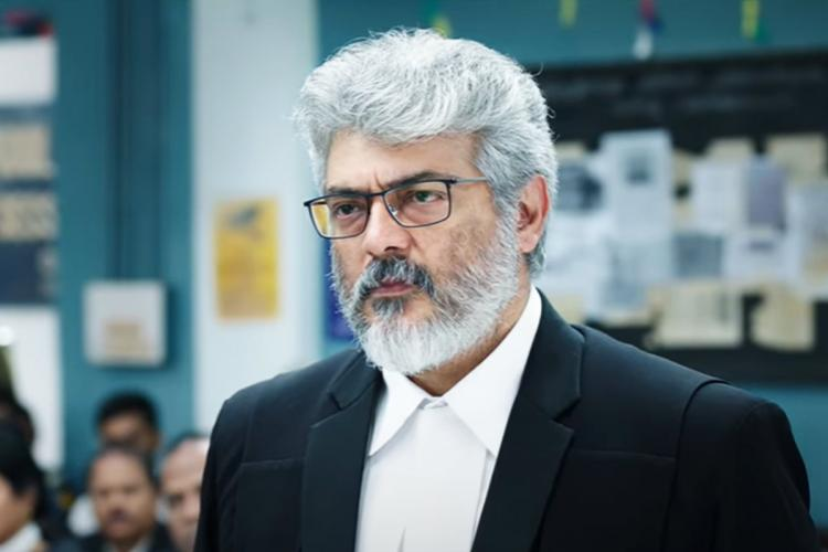 Ajith as advocate in Nerkonda Paarvai