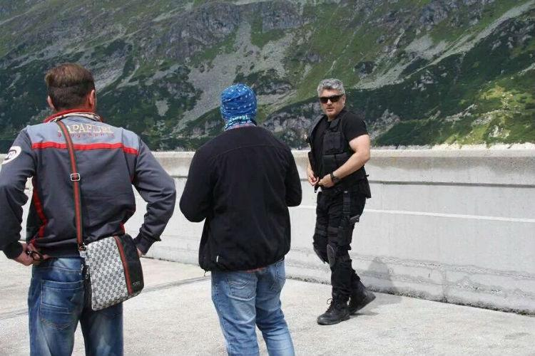 Ajith shooting in Austria local newspaper calls him Indian Sylvester Stallone