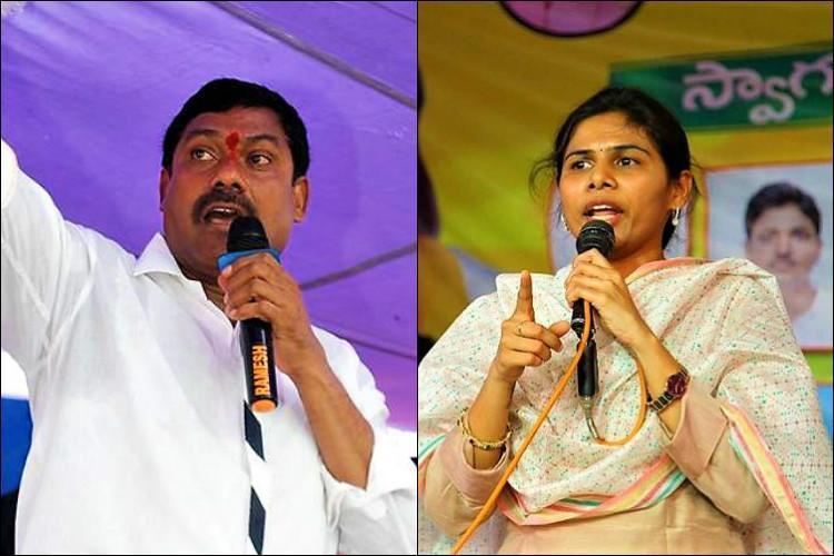 TDP leader AV Subba Redy and former Minister Bhuma Akhila Priya